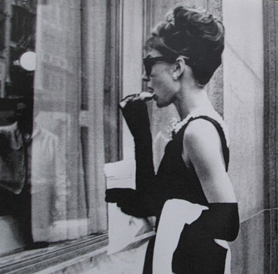 Audrey Hepburn at Breakfast at Tiffany's