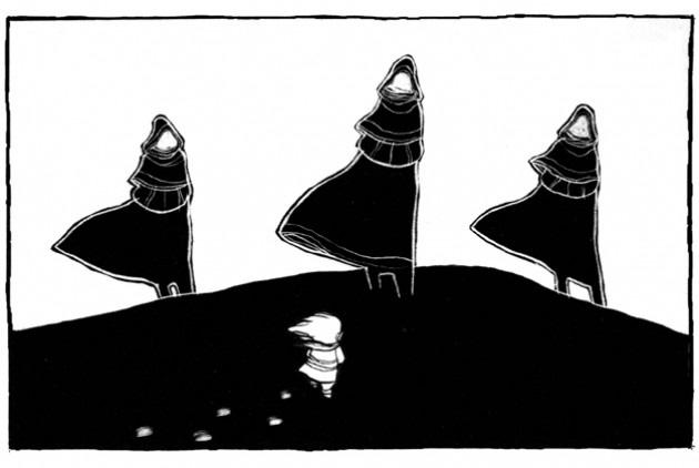 Τρείς σκιές εικονογράφιση
