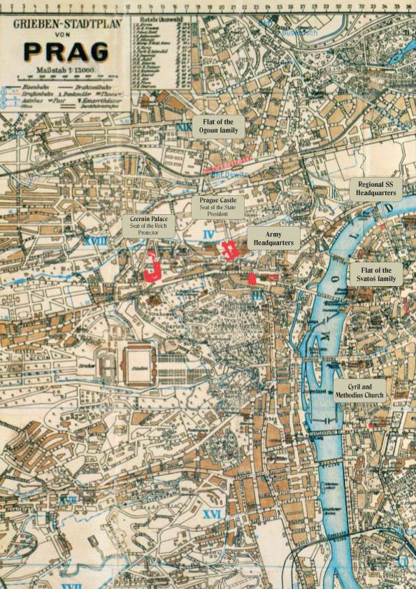 χάρτης της Πράγας