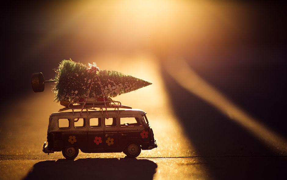 Χριστουγεννιάτικο δέντρο σε φορτηγάκι