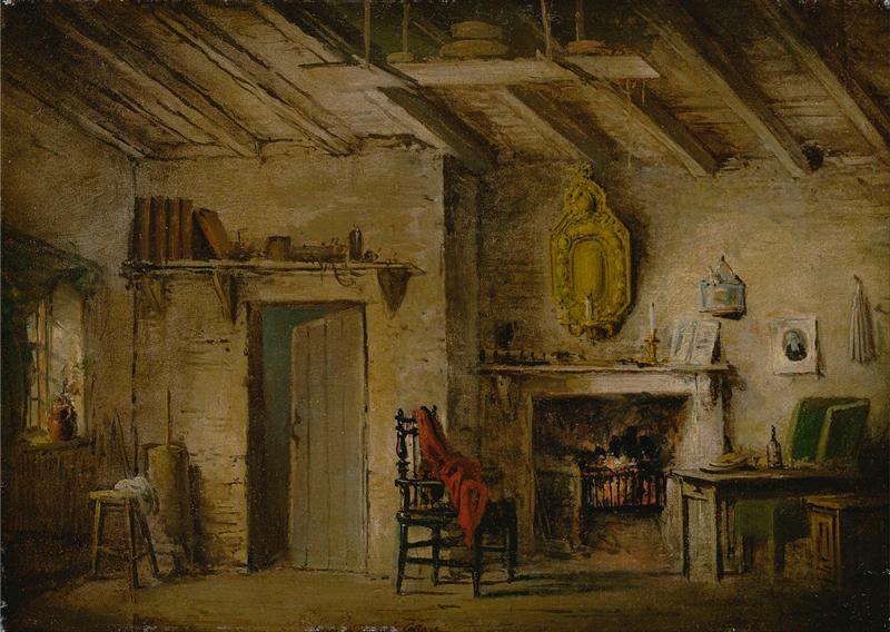 lexander Nasmyth - Stage Design for Heart of Midlothian; Deans' Cottage