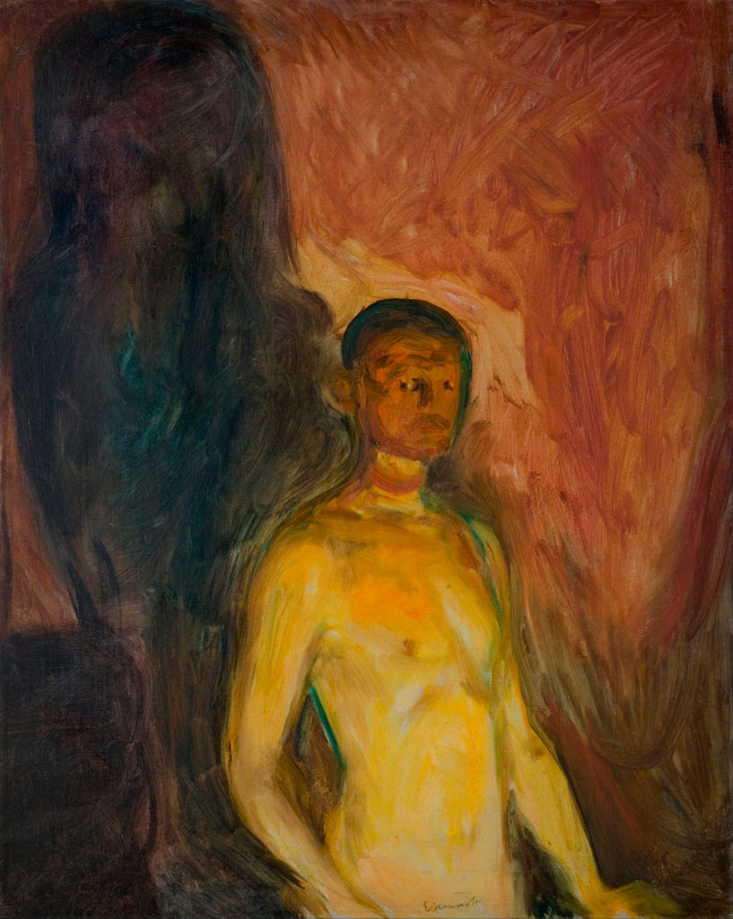 Self Portrait in Hell, Edvard Munch
