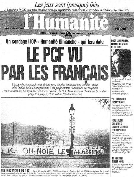 Η διασημότερη φωτογραφία των σφαγών στο Παρίσι το 1961